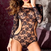 Body Suit Lace Leotard Be Wicked