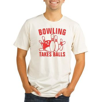 Bowling Takes Balls R Organic Men's Fitted T-Shirt