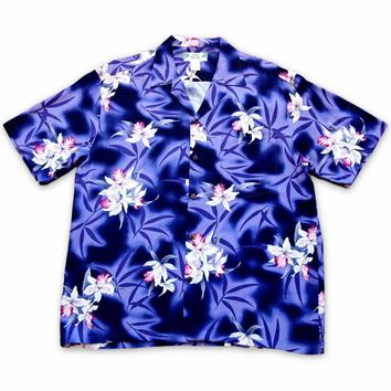 Poipu Purple Hawaiian Rayon Shirt