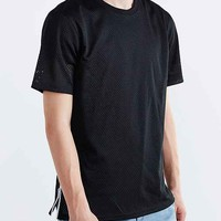 The Narrows Side-Zip Mesh Box-Fit Tee-
