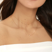 Finer Things in Life Gold Layered Choker Necklace