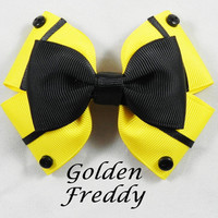 Golden Freddy Hair Bow ( FNAF )
