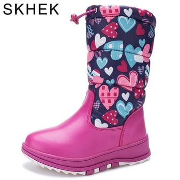 SKHEK2018 New kids rain boots botas girls shoes Winter Children Shoes  Boots Kids Snow Brand Girls Boys Rubber  Fashion Sneakers