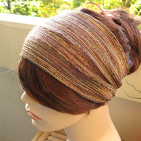 Muted Colors Striped  Turban Wrap Headband Women's Wide Head Wrap Multicolor Turband Hair Accessories