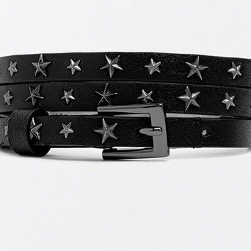 Black Star Rivet Belt