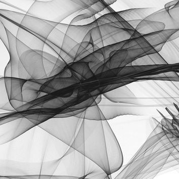 Abstract Black and White 18-25-26. Canvas Print by Irena Orlov