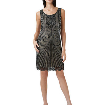 Adrianna Papell Beaded Shift Dress