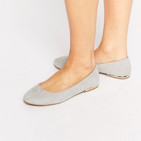 New Look Wide Fit Luna Metal Heel Ballerina