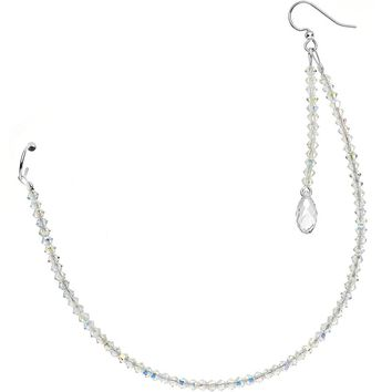 Handmade Nose to Ear Sparkling Chain Created with Swarovski Crystals