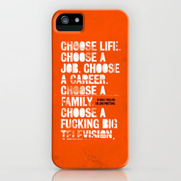 Trainspotting iPhone Case by Damien Koh