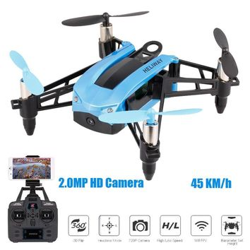 HELIWAY 903HS 2.4Ghz High Speed Selfie Drone Racing Quadcopter WIFI FPV 720P 2.0MP HD Camera Height