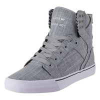 - SKYTOP HI TOPS BY SUPRA IN GREY LINEN