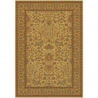 Couristan Taj Mahal Khorasan Autumn Wheat Oriental Rug - 7368/9875 - Wool Rugs - Area Rugs by Material - Area Rugs