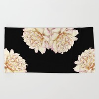 Roses - Lights the Dark Beach Towel by drawingsbylam