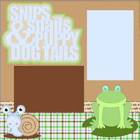 NEW!! Snips and Snails and Puppy Dogs Tails 2-page 12 X 12 Scrapbook Layout