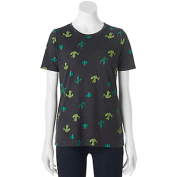 Juniors' Cactus Cactus Graphic Tee