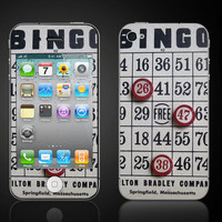 Free Shipping  Vintage Bingo Card and Markers  Apple by ItsASkin