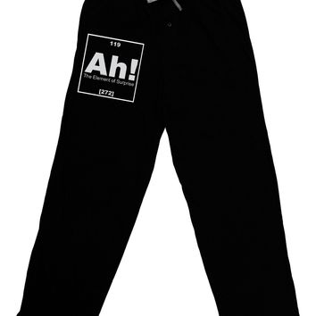 Ah the Element of Surprise Funny Science Adult Lounge Pants by TooLoud