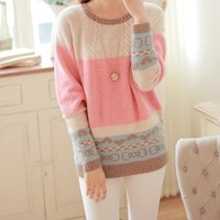 New Fall Winter 2013/14 Cable Pastel Colors Sweater from Moooh!!