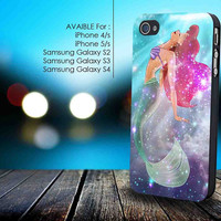 Ariel the little mermaid galaxy for iphone 5/5s,iphone 4/4s, samsung galaxy s2 I9100,s3 I9300,s4 I9500