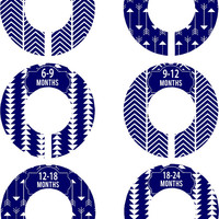 Custom Baby Closet Dividers Boy Girl Navy Blue Arrows Nursery Closet Dividers Baby Shower Gift Baby Clothes Organizer Baby Nursery Organizer