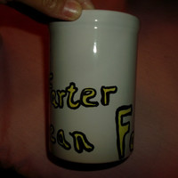 Father's Day Mug #1 Farter I Mean Father Dad Humor Funny Dad Gift Coffee Mug Made To Order Custom Colors Black and Yellow Maroon Yellow
