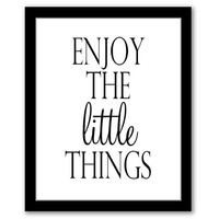 INSTANT DOWNLOAD, Enjoy The Little Things, Printable Art, Living Room Decor, Typography Art, Housewarming Gift, Motivational Quote