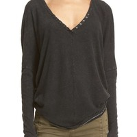 Free People 'Santa Cruz' Cotton & Linen Top | Nordstrom