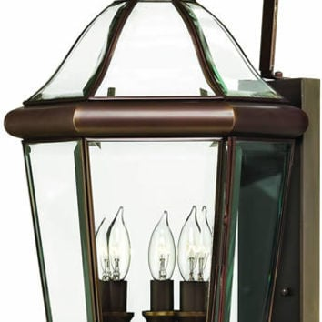 "0-034216>27""h Augusta 3-Light Extra-Large Outdoor Wall Lantern Copper Bronze"