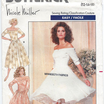 Butterick Printed Pattern Nicole Miller Design Misses Dress Sewing Pattern Butterick 5944