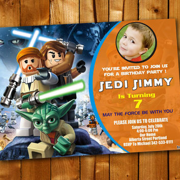 STAR WARS, Birthday Invitation, Birthday Party for little boy and little girl