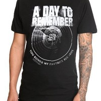 A Day To Remember Broken Record Slim-Fit T-Shirt 3XL Size : XXX-Large