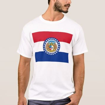 T Shirt with Flag of Missouri State USA