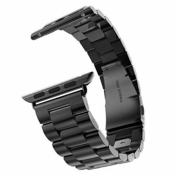 DCCKWQA New Quality Stainless Steel Strap Band for Apple Watch Band Sport Edition Black Silver Gold Watchband 38mm 42mm for iWatch band