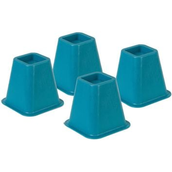 Honey Can Do 5.25-Inch Plastic Polymer Bed Risers Blue (Pack of 4): https://i5.walmartimages.com/asr/db5a1784-6c12-49ca-ae6e-34546ed58ee7_1.fba34958100a1cb8a1d077c48b356b4f.jpeg S