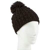 Women's Chunky Knit Hat with Pom - Moonshadow : Target