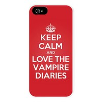 K C Love The Vampire Diaries Iphone 5 Case Iphone 5/5S Snap Case by KeepCalmParody
