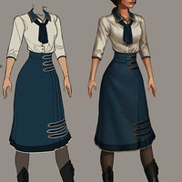 Bioshock Infinite Elizabeth Green Dress cosplay costume