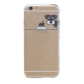 """BJS iPhone 6s Case, Cute Pet Dog Pattern Super Thin Soft Case Slim Fit for Apple iPhone 6s (2015) / iPhone 6(2014) 4.7"""" with Screen Protector and Stylus(Miniature Schnauzer)"""