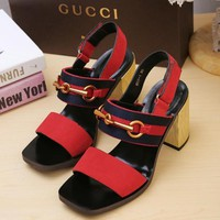 GUCCI Middle heel sandals in Gucci Classic Series-6