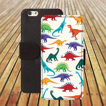 iphone 5 5s case dream Cartoon dinosaur iphone 4/ 4s iPhone 6 6 Plus iphone 5C Wallet Case,iPhone 5 Case,Cover,Cases colorful pattern L148