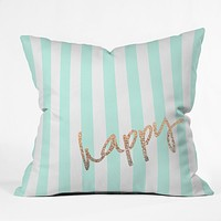 Monika Strigel Pretty Happy Mint Throw Pillow