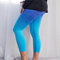 Work It Ombre Athletic Capris - Blue