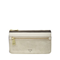 Preston Flap Clutch Wallet, Gold Multi