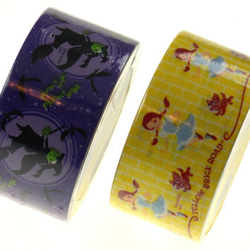 """Lot of 6 Rolls Wizard Of Oz Duct Tape 1.88""""x10yd Craft Decorating Dorothy Witch"""