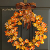 fall wreaths autumn welcome wreaths front door magnolia wreaths decor Thanksgiving outdoor wreaths fall wedding wreaths
