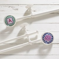 Classic Monogram Finial + Simply White Hardware Set