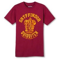 Men's Gryffindor Quidditch Team Harry Potter T-Shirt Burgundy : Target