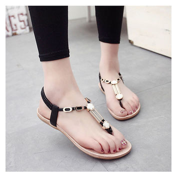 Women sandals 2016 36-40 women Summer shoes fashion Summer high quality flat plus size sandals