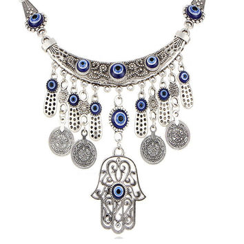 Fatima Hand Silver Necklace - 50% OFF + FREE Shipping
